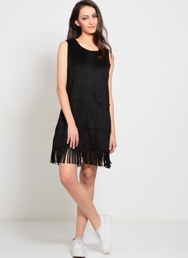 Cherry Parıs Elbise Siyah